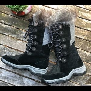 Clarks Wintry tall faux fur winter snow boots